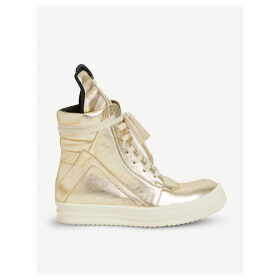 Geobasket leather high-top trainers