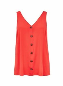 Red Button Camisole Top, Red