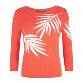Sunset Palm Intarsia Jumper