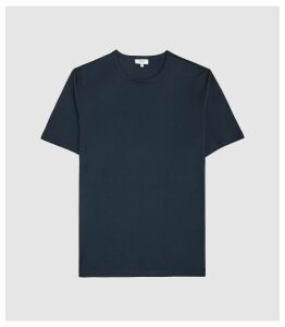 Reiss Matthew - Mercerised Egyptian Cotton T-shirt in French Blue, Mens, Size XXL