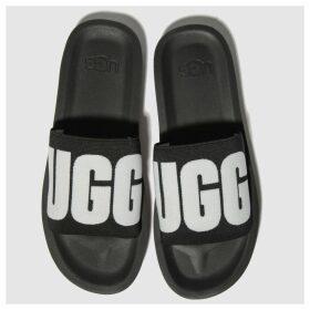 Ugg Black & White Zuma Graphic Slide Sandals