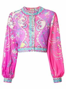Emilio Pucci Pre-Owned printed blouse - Purple