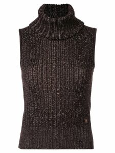 Chanel Pre-Owned 2001 knitted sleeveless top - Brown