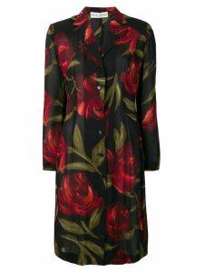 Dolce & Gabbana Pre-Owned 1990's floral shirt dress - Black