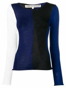 Comme Des Garçons Pre-Owned 1990's striped jumper - Blue