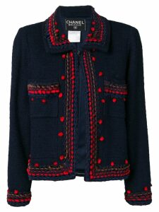 Chanel Pre-Owned 1997 interwoven thread jacket - Blue