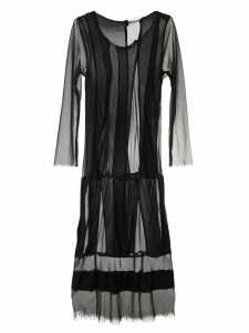 Comme Des Garçons Pre-Owned mesh panels midi dress - Black