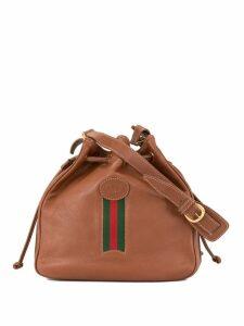 Gucci Pre-Owned GG embossed drawstring shoulder bag - Brown