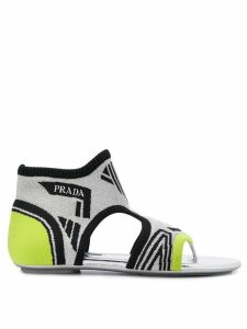 Prada sock ankle sandals - SILVER