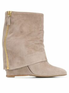The Seller foldover flap boot - Neutrals