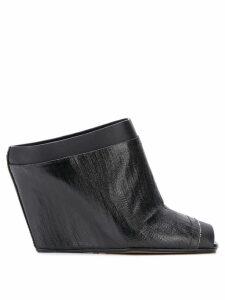Rick Owens wedge heel mules - Black
