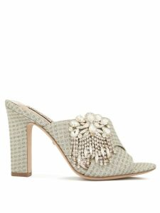 Badgley Mischka Farrah embellished sandals - SILVER
