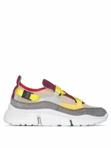 Chloé Multicoloured Sonnie colour block sneaker - Purple