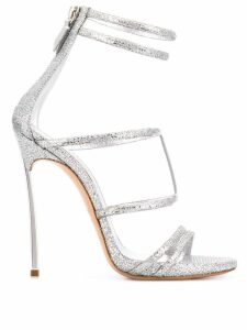 Casadei stiletto thin strap sandals - Metallic
