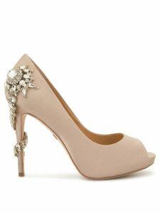 Badgley Mischka embellished open-toe sandals - PINK