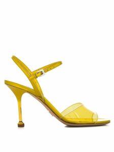 Prada transparent detail sandals - Yellow