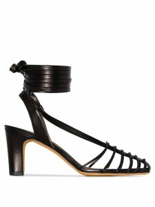 Maryam Nassir Zadeh Maribel 85 ankle strap caged sandals - Black