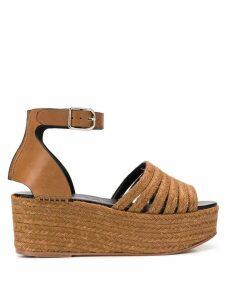 Loewe platform wedge sandals - Brown
