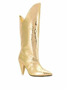 Attico metallic boots - Gold