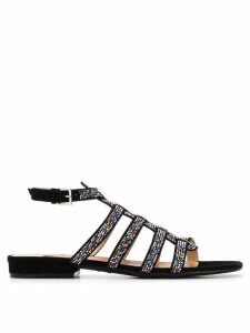 Sergio Rossi crystal embellished sandals - Black