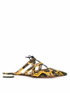 Aquazzura printed mules - Yellow