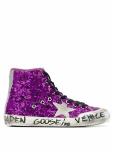 Golden Goose sequined Venice sneakers - Purple