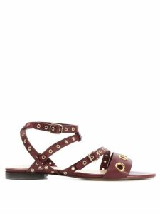 Tila March Monica flat sandals - Red