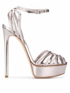 Casadei Flora Bonnie platform sandals - Metallic