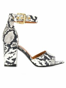 Via Roma 15 snakeskin print sandals - White