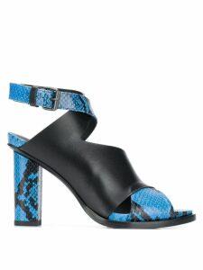 A.F.Vandevorst leather sandals - Black