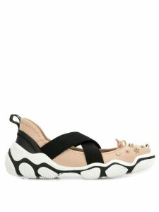 Red Valentino studded ballet sneaker - PINK
