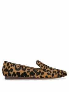 Veronica Beard leopard print loafers - Brown