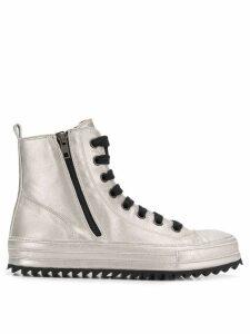 Ann Demeulemeester hi-tops sneakers - Metallic