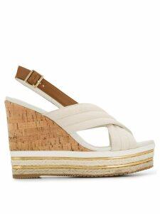 Hogan open-toe wedge sandals - White