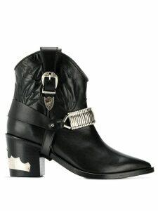 Toga Pulla metallic details cowboy boots - Black