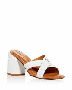 Clergerie Women's Anna Block-Heel Slide Sandals