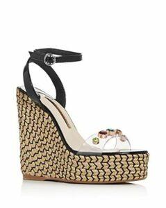 Sophia Webster Women's Dina 140 Embellished Wedge Platform Espadrille Sandals