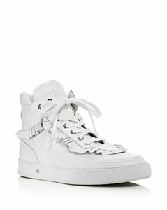Laurence Dacade Women's Lilou Ruffle Leather High Top Sneakers