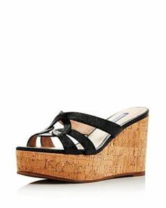 Stuart Weitzman Women's Cadence Wedge Sandals