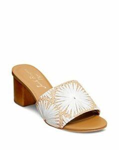 Jack Rodgers Women's Bettina Block Heel Slide Sandals