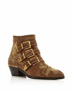 Chloe Women's Susanna Pointed-Toe Studded Booties