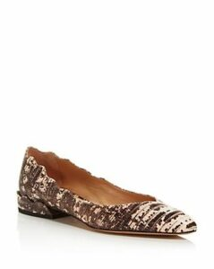 Chloe Women's Laurena Embossed Leather Ballerina Flats