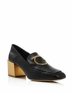 Salvatore Ferragamo Women's Lana Block-Heel Loafers