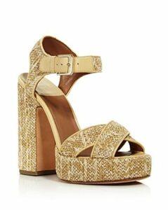 Laurence Dacade Women's Rosange Raffia Platform Sandals