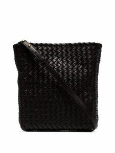 Bottega Veneta intrecciato weave shoulder bag - Brown