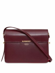 Burberry Large Leather Grace Bag - Red