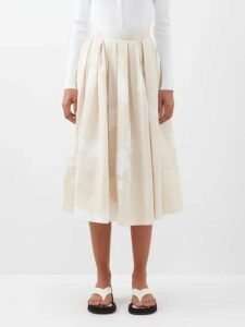 Ephemera - Bloom Floral-print Linen Shorts - Womens - Blue Print