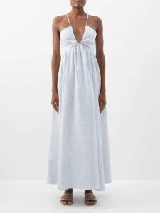 Edeltrud Hofmann - Nico High-neck Silk Blouse - Womens - Pink Multi