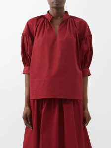 White Story - Bliss Tiered-linen Maxi Skirt - Womens - Beige