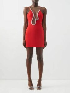 Alexandre Vauthier - Tuxedo-jacket Satin Mini Dress - Womens - Black